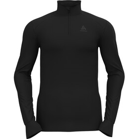 Odlo Active Warm Haut Col Roulé À Manches Longues 1/2 Zip Homme, black
